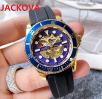 Rubber Silicone Buckle Watches 40mm Mens Mechanical SS Automatic 2813 Movement Watch Sports Men luxury Gear SKeleton Dial Designers Wristwatches