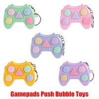 Gamepads Fidget Bubble Keychain Toy Chaveiro Jogo Joystick Controlador Lidar com Plástico Relevante Stress Pad Hand Titular Decompression G