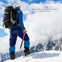 Kış ultralight ördek aşağı dış giyim pantolon unisex süper ışık rüzgar geçirmez artı boyutu sıcak pantolon gevşek kayak hiking pantolon1