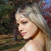 مقاطع الشعر المشابك 2021 الأزياء والأزياء الراين حجر مجوهرات الجنيات نفس سلسلة الجبهته رائعة لامعة كريستال المرأة أغطية الرأس
