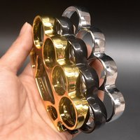 Big head round metal four finger tiger fist buckle defensive tiger finger ring buckle defensive EDC tool joint ring buckle HW108