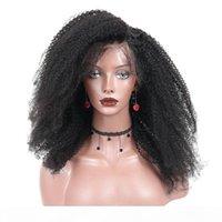 250 плотность Монгольский афро странные кудрявые кружева передние человеческие волосы парики 4B 4C человеческие волосы 13x4 кружева лобное бобовое резное закрытие youmay remy