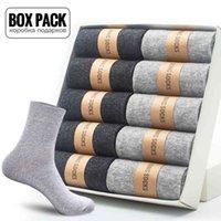 Chaussettes Box Pack Hommes Cats 10-Pair / Box Business Business Hommes Doux Respiration Été Hiver Pour Homme Jeune Don Mesurer EUR39-45