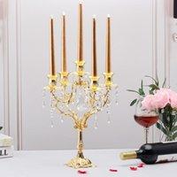 Formy do pieczenia EUROPEJ Styl świecy Posiadacze Candelabra Romantyczny Śruba Candlelight Dinler Filar Candlesticks Home for Wedding Decoration Centerpie