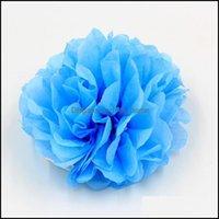 Decorative Wreaths Festive Home & Gardenwholesale- 1Pcs Largr 12Inch Props Decoration Flowers For Car Supplies Tissue Paper Pom Poms Wedding