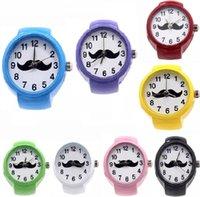 30шт старинные кварцевые влюбленные посмотреть модную модную циферблат кварцевые часы борода дизайн творческий сталь прохладный эластичный кварцевый кольцо палец часы подарки W2117