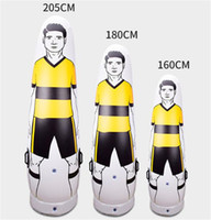 2.05m 1.8m 1.6m PVC Inflatable Football Training goalkeeper Tumbler Air Soccer Dummy Mannequin Children Adult penalty equipment