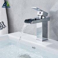Chrom Wasserfall Basin Wasserhahn Badezimmer Waschbecken Einzelne Griff Heißer kaltem Wasser Mischbatterie Torneiras Kran