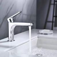 Mélangeur de bassin de robinet de robinet de salle de bain Vanity Vessel pour comptoir Coldhot Simple Poignée Simple Robinet en laiton chrome moderne