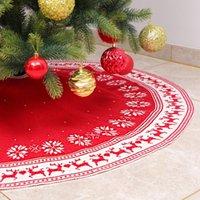 크리스마스 장식 10 스타일 린넨 삼 베리 스커트 레드 블랙 체크 무늬 프릴 사이드 테두리 실내 야외 매트 파티 봉제 스커트 드레스