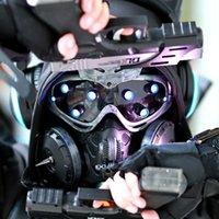 Cyberpunk Mechanical Energy Mask Rekwizyty CS Science Fiction Road Halloween Bar Odpady Gleba Luminous Goggl