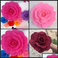 Ghirlande decorative Festive Forniture del partito Casa Giardino da giardino10 a 60 cm Dia Dia Dia Weddro Decorazione 3D Foam Rose Flower Display Finestra Fine f