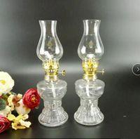 Lámparas de aceite para uso en interiores, lámpara de cristal vinche de cristal, luz de emergencia de iluminación para el hogar (20 cm / 7.9) 2 unids
