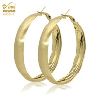 Stud Fashion Gold Plated Big Hoop Round Earrings Jewelry 2021 Trends Designer Ear Rings For Women Earing Party Gift Jewellery