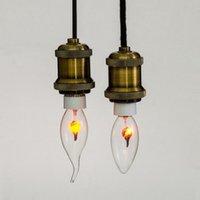 Edison E14 E27 Lighting Retro Creative Personality Decorative Energy Saving Flaming Candle Bulb 220V C35 Flam Rawai Bubble Flame Sharp Bulb