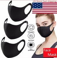 2021 US Stock Designer Mode Waschbare Schutzgesichtsparty Masken Schwarz Baumwolle Wiederverwendbare Erwachsene Kinder Anti Staub Radfahren Mund Maske Kinder Tuch Masken US Lager