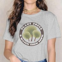 Women's T-Shirt Watch Them Grow Style TShirt For Girl Arbor Day Plant Trees Climate Holiday 4XL Design Graphic T Shirt Short Sleeve