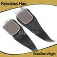 """رائع عذراء الشعر freeparting إغلاق 5x5 """"مستقيم غير المجهزة البرازيلي الدانتيل أعلى إغلاق، 8 -20"""" قطعة شعر الإنسان، عقدة ابيض كلوزو"""