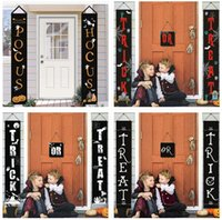 Halloween Home Decoration Door Curtain Couplet Banner Flag Oxford Cloth 32*180cm Party Supplies-TOPN911