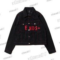 남성 여성 Unisex 재킷 데님 겉옷 Mens Designer Streetwear 스키니 슬림 피트 블랙 자켓 가을 코트 크기 S-XL