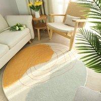 Ковры Nordic простой круглый ковер гостиная Компьютерный стул стул на полу Коврик Домой Пушистые коврики Спальня Мягкие дети играют палатку TatAmi Mat