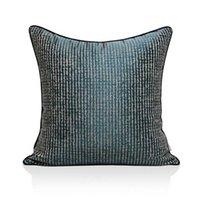 Cuscino / cuscino decorativo moderno cuscino semplice cuscino beige blu geometrico jacquard cuscini decorativi di alta qualità luce di lusso di lusso divano B