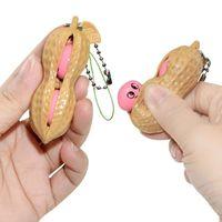 Fivet Peanut Pea Pows Squaze Toys Imple Beychain Стресс Регистрация Клавиши Кольцо Анти-СДВГ Вентиляционные Шарики Игрушка Сжидкая Горох