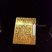 ST lighter Bright Sound Gift with Adapter luxury men accessories gold color Pattern Lighters 14