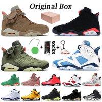 Nike Air Jordan 6 6s retro 6 Jumpman Stok kaktüs jakı 3M Yansıtıcı Kızılötesi Oregon erkek eğitmenler spor ayakkabıları Ördekler Basketbol Ayakkabı mens Travis Scott 6 6s x