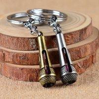 Schlüsselanhänger Hohe Qualität DIY Vintage Keychain Antike Bronze Zink Legierung Metall Schlüsselanhänger MIRPOPHONE Modell LLaveros Music Hoder Souvenirs Charme