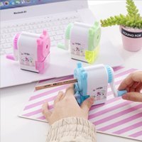 Creative cartoon automatic pen sharpener student learning stationery kid hand-cranked pencil Cutting implement faster more convenient and safer