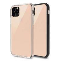 Для iPhone 11 12 Pro Max Case Crystal Clear прозрачный гибридный мягкий TPU твердый ПК прочный анти-царапин сотовой чехол сотовой связи
