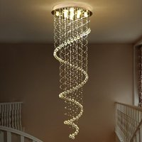 Chandeliers Modern LED K9 Crystal Chandelier Villa Luxury Double Staircase Lamp Living Room Lights