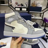 2021 새로운 무료 배송 공식적으로 기념일 콜라보 레이션 회색 흰색 프랑스 패션 스타일 라벨 김 존스 운동화 신발 크기 36-45