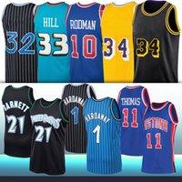 33 Grant 11 Isiah Hill Thomas Rodman Haríway 10 Dennis 1 Tim 1 Tracy McGrady Retro NCAA Basketball Jerseys