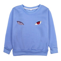 Naruto Eyes Print Toddler Baby Felpa Felpa Moda Divertente Ragazzi Ragazze T Shirt manica lunga Top Bambini Cappucciò Abbigliamento Abbigliamento Outwear Y0304