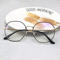 클래식 초경량 금속 안티 - 블루 라이트 안경 여성 스퀘어 광학 근시 처방전 안경 남자 컴퓨터 안경