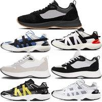 2021 Best B25 B24 Runner oblique Sneaker Hommes Plate-forme Chaussures Créateurs de chaussures Noir White Sude Entraîneurs En Cuir Mesh Lace-Up Chaussures Casual # 59 O5AT #
