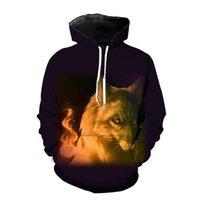 Men's Hoodies & Sweatshirts Wolf Printed Men 3d Hooded Brand Fashion Tracksuits Animal Streetwear Out Coat Harajuku Hoody