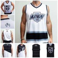 Abn Los Angeles Kings Hockey Tank Blue White Grey Vest Настроить любой номер и название Hocke Jersey