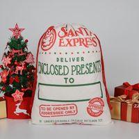 Weihnachtsgeschenksack Große Bio-Heavy Canvasbag Santa Sack Kordelzug-Taschen mit Rentiers Santaclaus Sackbags für Kinder HWF8623