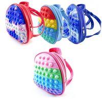 Fidget Toys Children Backpacks 3D Girl Boy School Bags Toddler Kids Schoolbag Kindergarten Anime Kawaii Figet Pouch Gift