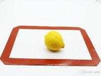 Non-Stick-Silikon-Fiberglas-Backmatte Küchenwerkzeuge Backen-Werkzeuge für Kuchen-Cookie-Makaron 30 * 21 cm Lebensmittelqualität rot