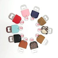 10 Colors Stainless Steel Beer Bottle Opener PU Leather Keychain Pendant Household Kitchen Tool Corkscrew Key Ring