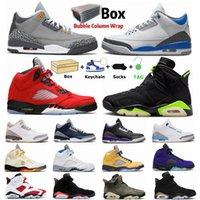 UNC 3 S 5 S 5 S TARAHTA 6S MENS Jumpman Basketbol Ayakkabı Mahkemesi Mor Siyah Çimento Üst 3 Oreo Elektrikli Yeşil Carmine Spor Outooe Kadın Sneakers