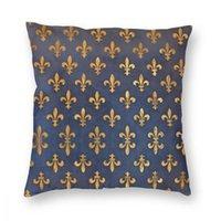 Florencia Tiro de almohada Cubierta de almohada Pillow Fleur de Lis Lily Flor Symbol Bandera Novedad Pillowcover Casa Decoración