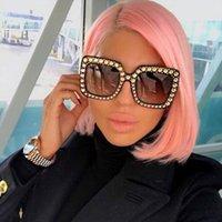 45321 Crystal Rim mulheres óculos de sol glitter senhoras senhoras retrô marca desginter moda feminina tons