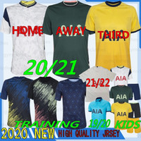 Thai 21/22 Kvalitet Tottenham Kane Soccer Jersey Lamela Bergwijn ndombele Dele son 20/21 Fotbollströja Tröjor Män Kids Kit Set Uniforms