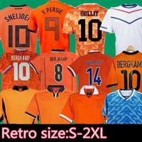1988 Holanda Retro Soccer Jersey Van Basten 1997 1998 1994 Holland Camisas de futebol Bergkamp 97 98 12 Gullit Rijkaard Davids