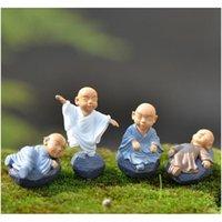 Decorazioni Patio, Prato inglese Casa Drop Consegna 2021 Kung Fu Cartoon Monk Figurine Figurine Fairy Garden Miniature Ornamenti Terrario Decorazione Muschio